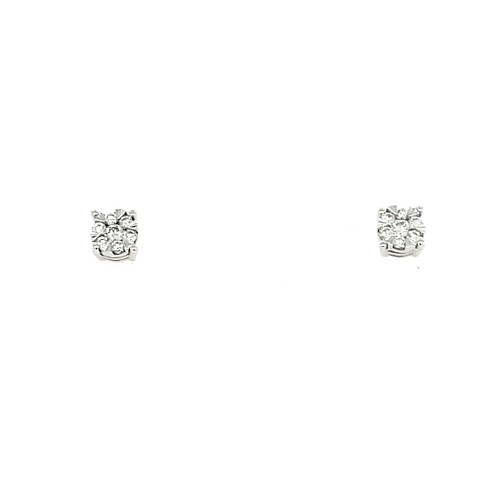 18ct White Gold 0.14ct Diamond Earrings