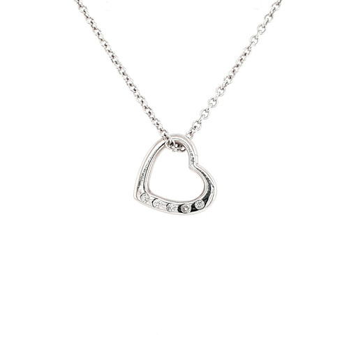 Platinum & Diamond Heart Pendant