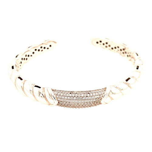 Just Jane Silver & Cubic Zirconia Bangle