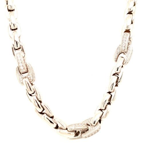 Just Jane Silver & CZ Necklace