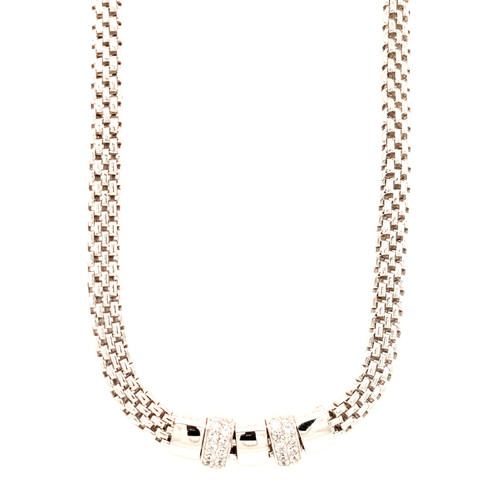 Just Jane Silver CZ Necklace