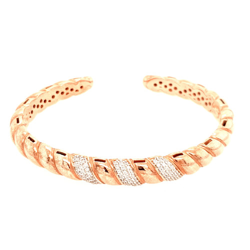 Just Jane Rose Gold Plated Silver & CZ Bangle