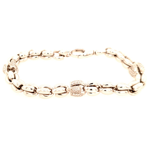 Just Jane Silver Bracelet with Cubic Zirconia Detail