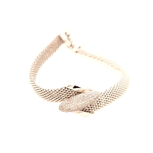 Just Jane Strap Bracelet with Oval CZ Detailing