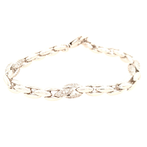 Just Jane Silver Bracelet with Marquise Shaped CZ Detailing