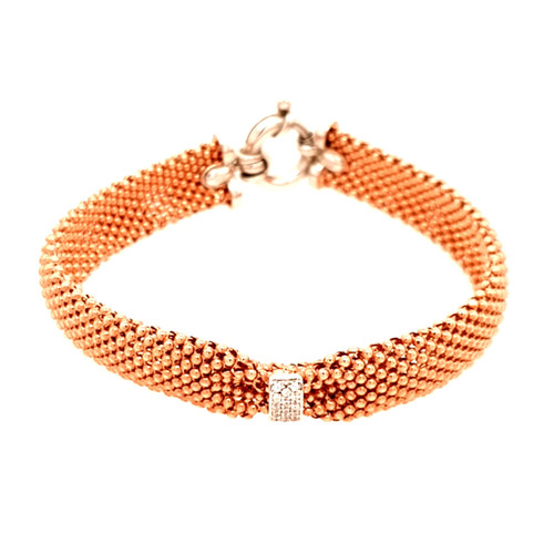 Just Jane Rose Gold Plated Bracelet with Silver & CZ Detailing
