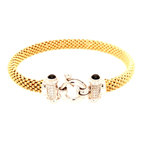 Just Jane Gold Plated Bracelet with Silver & CZ Clasp