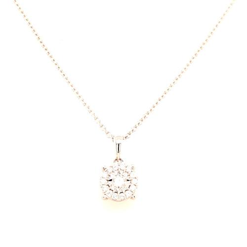18ct White Gold 0.19ct Diamond Pendant