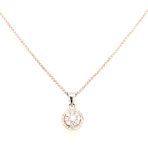 18ct White Gold 0.30ct Diamond Pendant
