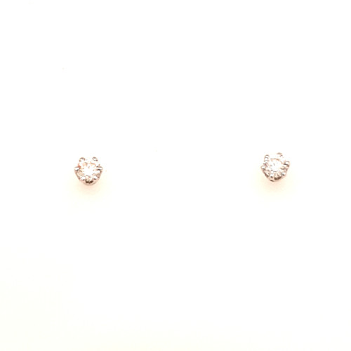 18ct White Gold 0.35ct 6 Claw Diamond Earrings
