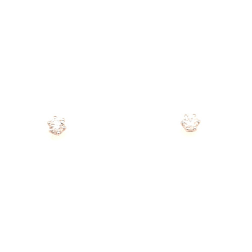 18ct White Gold 0.25ct 6 Claw Diamond Earrings