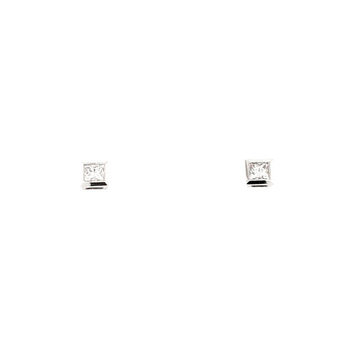 18ct White Gold 0.30ct Princess Cut Diamond Stud Earrings diamond ring engagement ring belfast wedding ring eternity ring diamond jewellery