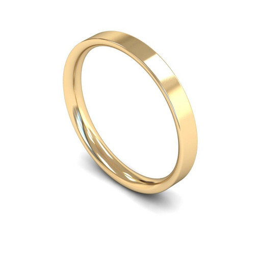 18ct Yellow Gold Wedding Ring - 2mm, 2.5mm, 3mm - Create your own