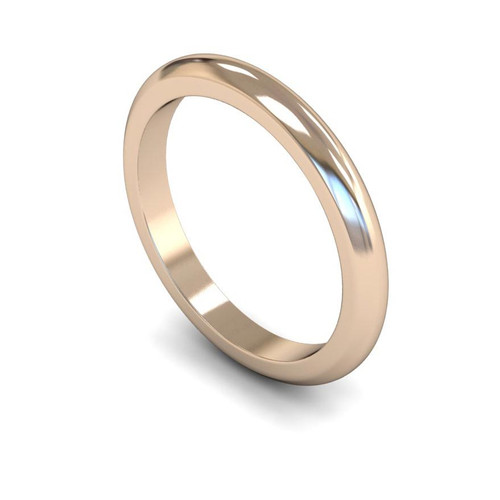 18ct Rose Gold Wedding Ring - 2mm, 2.5mm, 3mm - Create your own