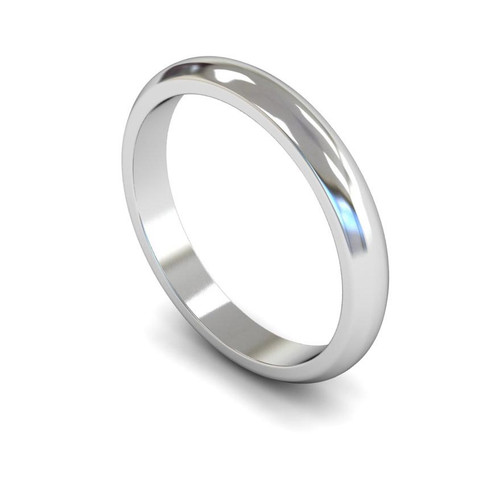 18ct White Gold Wedding Ring - 2mm, 2.5mm, 3mm - Create your own