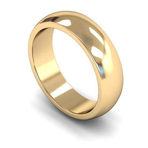 9ct Yellow Gold Wedding Ring - 4mm, 5mm, 6mm - Create your own