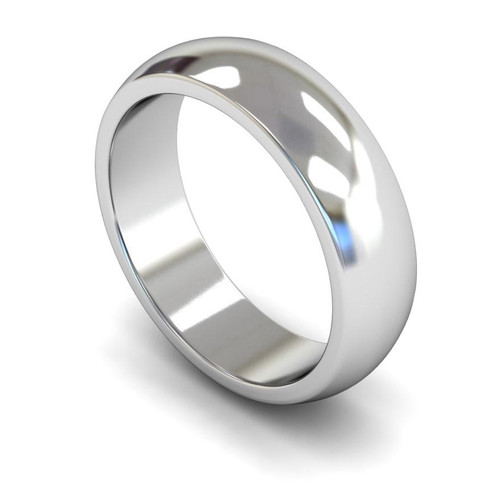 9ct White Gold Wedding Ring - 4mm, 5mm, 6mm - Create your own