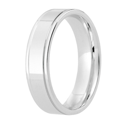 Double Line Patterned Wedding Ring