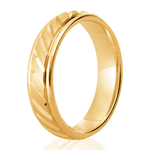 Diagonal Notches Patterned Ring