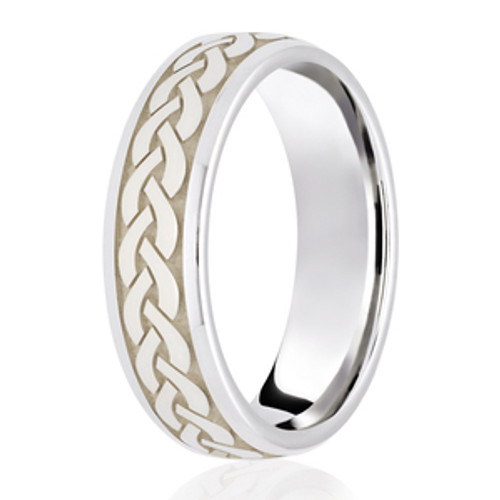 Celtic Twist Weave Wedding Ring