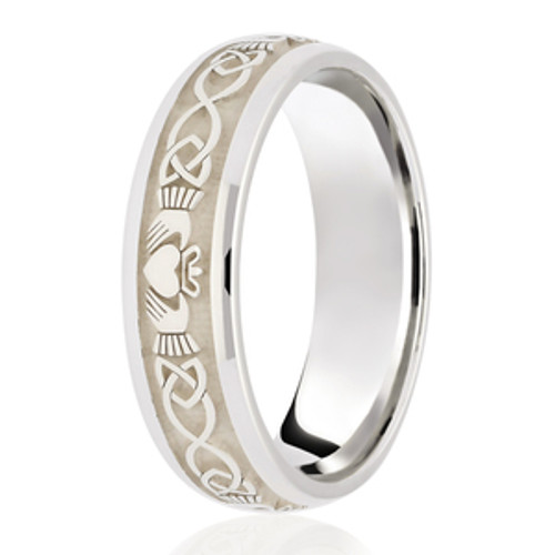 Claddagh Patterned Celtic Wedding Ring