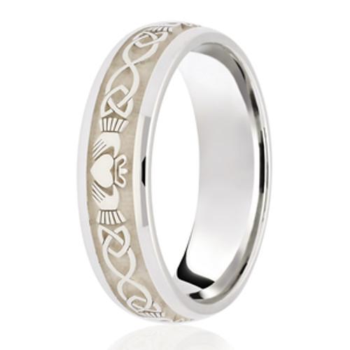 Claddagh Patterned Celtic Wedding Ring