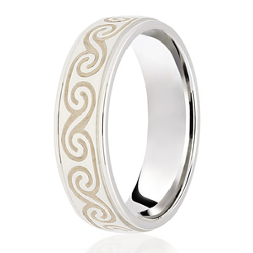 Celtic Swirl Patterned Wedding Ring