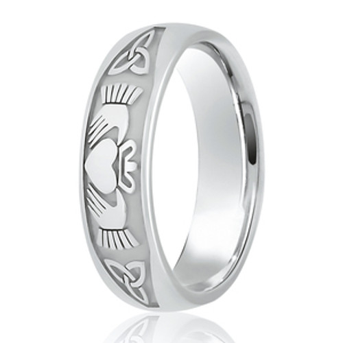 Claddagh & Trinity Knot Patterned Wedding Ring