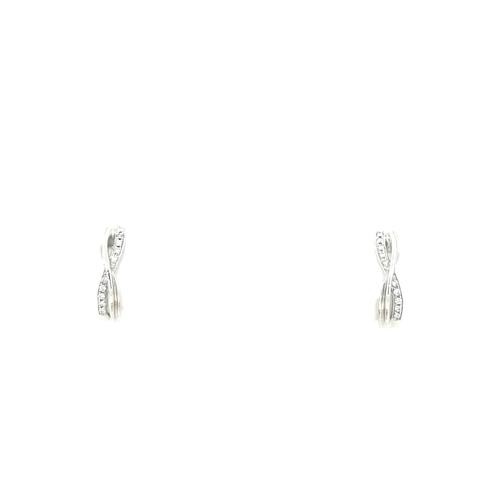 9ct White Gold Diamond Hoop Cross Earrings diamond ring engagement ring belfast wedding ring eternity ring diamond jewellery