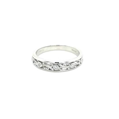 Platinum 0.06ct Antique Style Diamond Set Wedding Ring diamond ring engagement ring belfast wedding ring eternity ring diamond jewellery