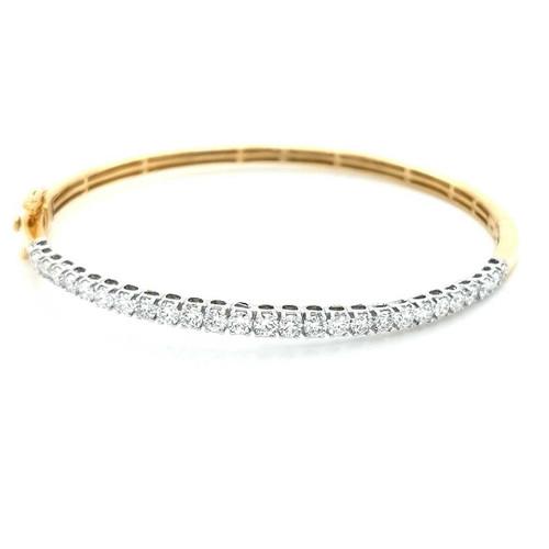 18ct Yellow Gold 2.00ct Claw Set Diamond Bangle diamond ring engagement ring belfast wedding ring eternity ring diamond jewellery