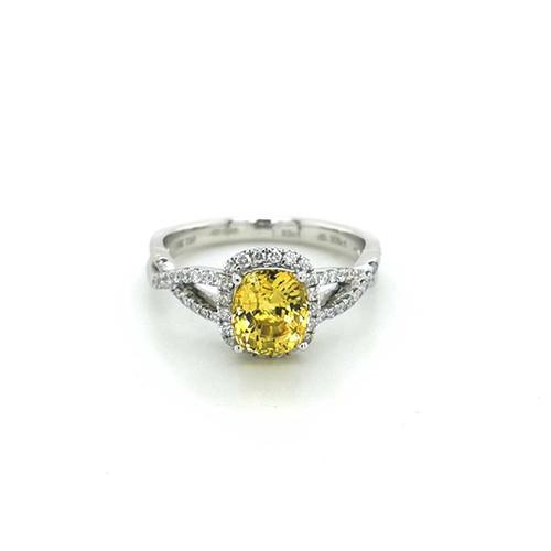 18ct White Gold 1.83ct Yellow Sapphire & 0.31ct Diamond Ring diamond ring engagement ring belfast wedding ring eternity ring diamond jewellery