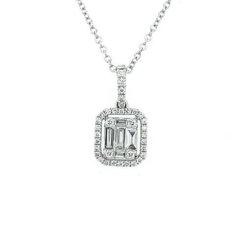 18ct White Gold 0.60ct Diamond Baguette Pendant diamond ring engagement ring belfast wedding ring eternity ring diamond jewellery