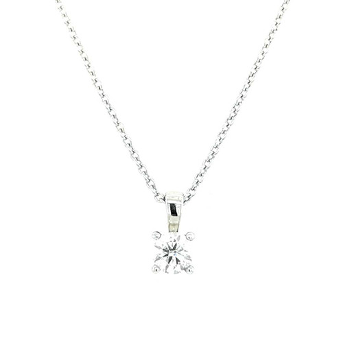 18ct White Gold 0.40ct Diamond Solitaire Pendant diamond ring engagement ring belfast wedding ring eternity ring diamond jewellery