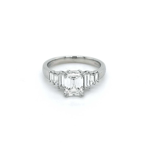 Platinum 1.95ct Emerald Cut 7 Stone Diamond Ring diamond ring engagement ring belfast wedding ring eternity ring diamond jewellery