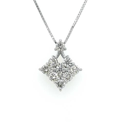 Platinum 1.00ct Diamond Shaped Pendant diamond ring engagement ring belfast wedding ring eternity ring diamond jewellery