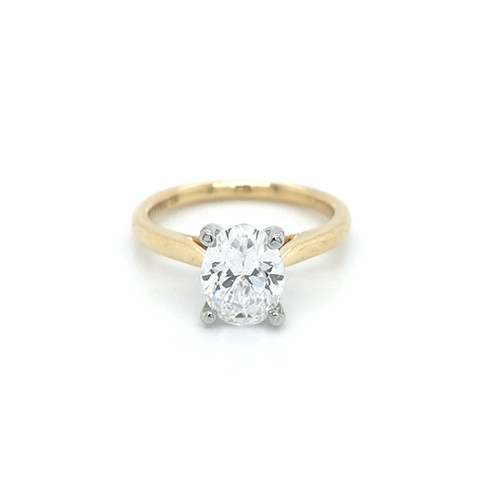 18ct yellow gold 2.00ct oval diamond solitaire engagement ring murray co belfast jewellers
