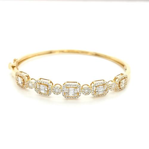 18ct yellow gold diamond bangle murray co jewellers belfast fine jewellery