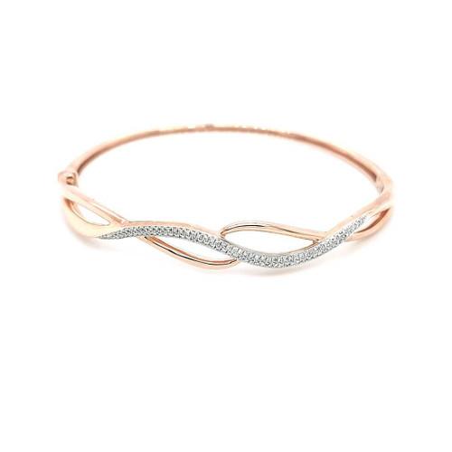 9ct Rose Gold 0.30ct Diamond Swirls Bangle diamond ring engagement ring belfast wedding ring eternity ring diamond jewellery
