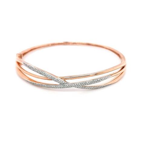 9ct Rose Gold 0.50ct Diamond Bangle diamond ring engagement ring belfast wedding ring eternity ring diamond jewellery