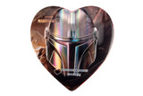 Star Wars The Mandalorian Heart Tin with Caramel Filled Chocolate