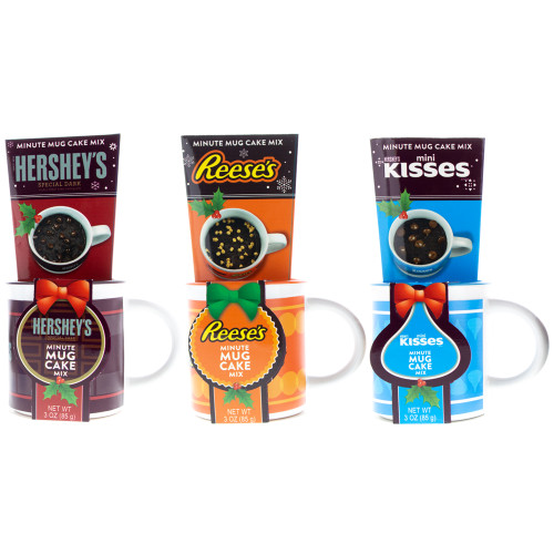 Set of Hershey's Holiday Mug Cakes.  Your Choice, Hershey's, Reese's and Kisses