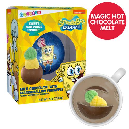 Spongebob Square Pants Chocolate Bomb with Marshmallow Surprise