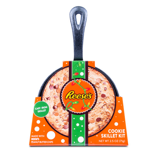 Front of Reese's cookie cast iron skillet