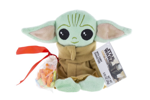 """""""The Child"""" Mandalorian Plush with hard candy package.  Soft and cuddly, cute and fun!"""