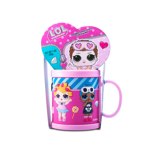 LOL Surprise! Plastic Mug with Hot Cocoa Mix