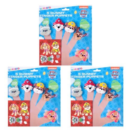 Set of 3 Paw Patrol Edible Gummy Finger Puppets