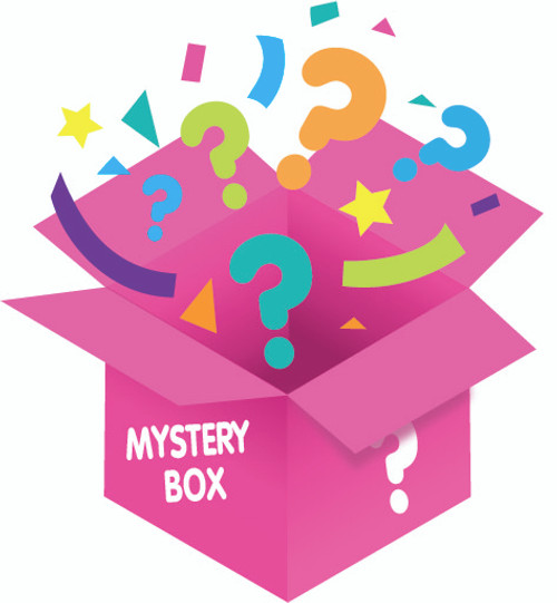 Pink Mystery Box from Galerie Candy & Gifts filled with unknown surprises. $60 Value
