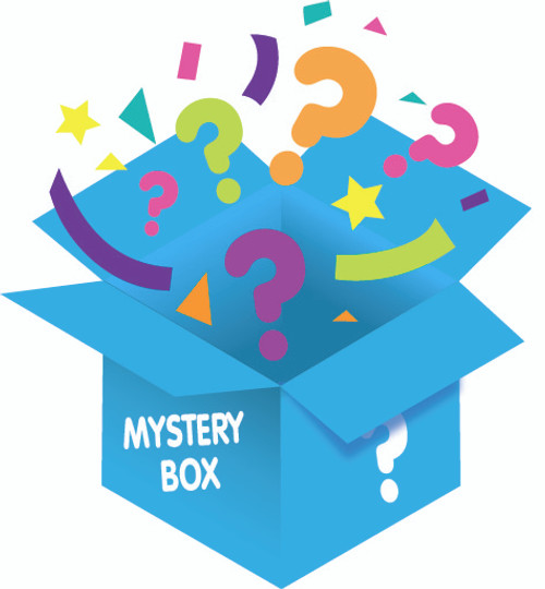 Blue Mystery Box from Galerie Candy & Gifts filled with unknown surprises. $60 Value