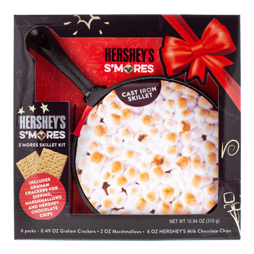 Front view of smores skillet in packaging